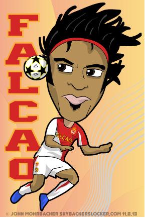 Radamel Falcao Deadly Striker Cartoon Skybacher S Locker