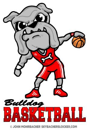 Bulldog Basketball Team Logo Skybacher S Locker