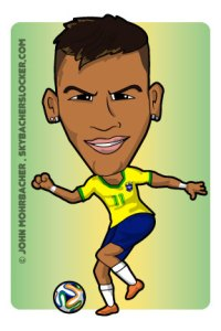 neymar cartoon, neymar brazil
