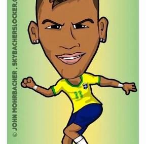 neymar cartoon, neymar brazil