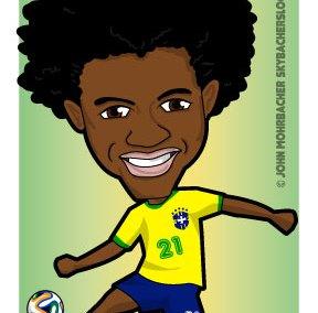 brazil willian, willian cartoon