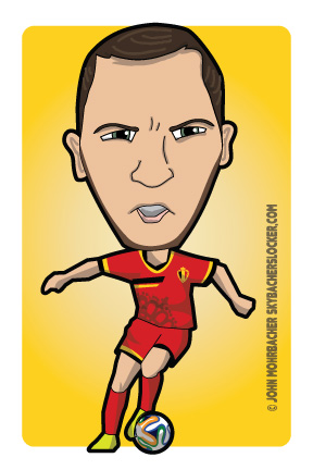 Eden Hazard - Cartoon - Belgium