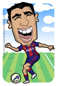 suarez cartoon, suarez barca