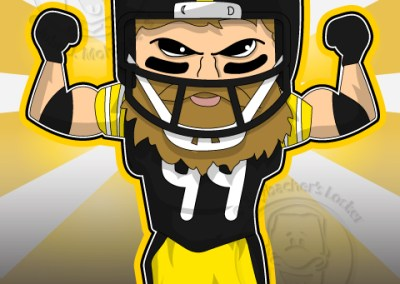 steeler clipart, steeler keisel, keisel cartoon, football cartoon