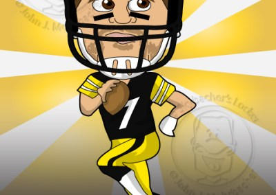 steelers clip art, big ben, big ben cartoon, roethlisberger