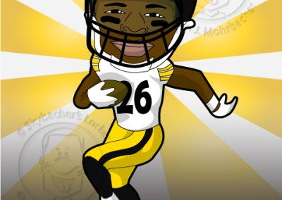 leveon bell cartoon, steelers clipart, steelers le'veon