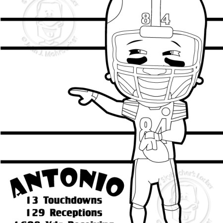 Antonio Brown Coloring Page