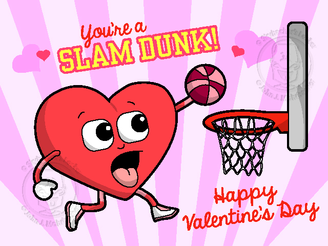 basketball valentine, skybachers locker, heart cartoon, basketball cartoon