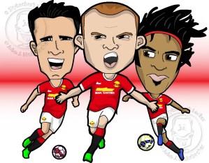 man u team cartoon, manchester united clipart