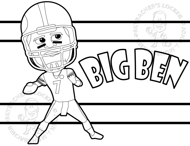 Free Steelers Coloring Pages Skybacher S Locker