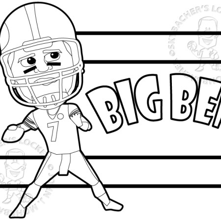 big ben coloring page, steelers coloring page