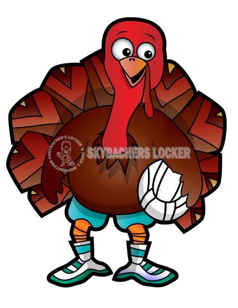 Volleyball Goofy Turkey - Skybacher's Locker