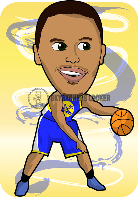 Steph Curry Warriors Cartoon - Skybacher's Locker