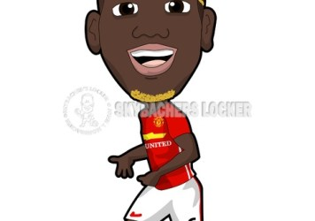 Paul Pogba of Man. United Cartoo