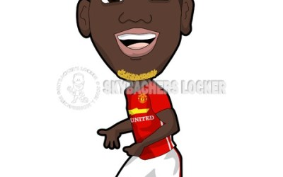 Paul Pogba of Man. United Cartoo