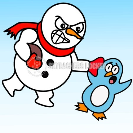 Snowman vs. Penguin Football - Skybacher's Locker