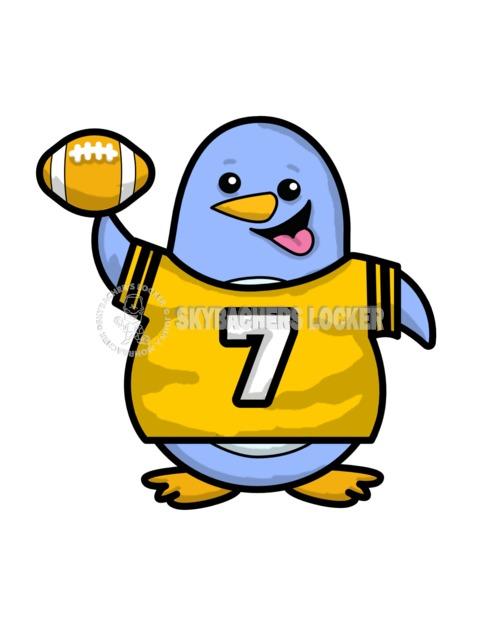Penguin Wearing Football Jersey - Skybacher's Locker