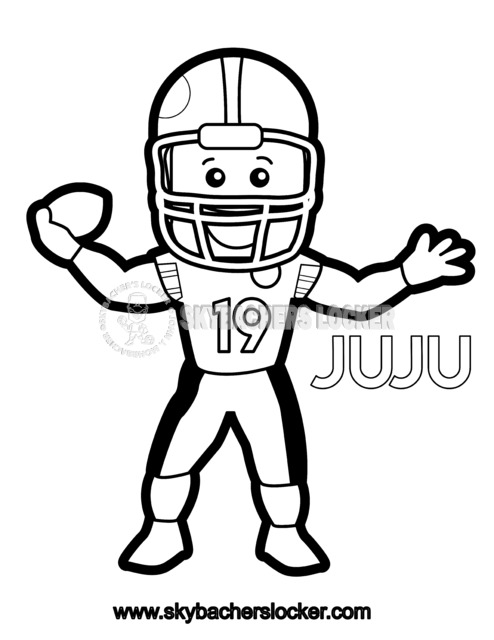Juju Smith Schuster Coloring Page Skybacher S Locker