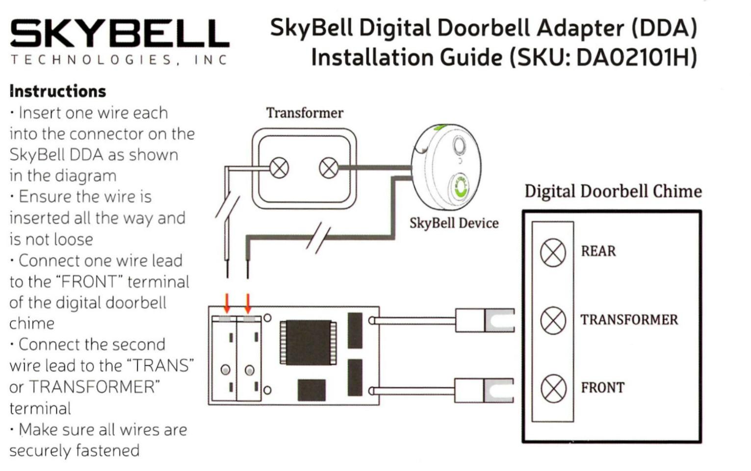 wiring diagram for doorbell transformer bremas reversing switch do i need a digital adapter? how install it? – skybell technologies
