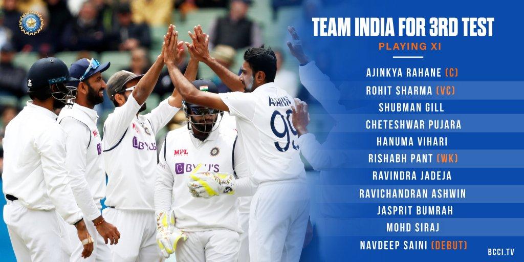 Navdeep Saini made test debut