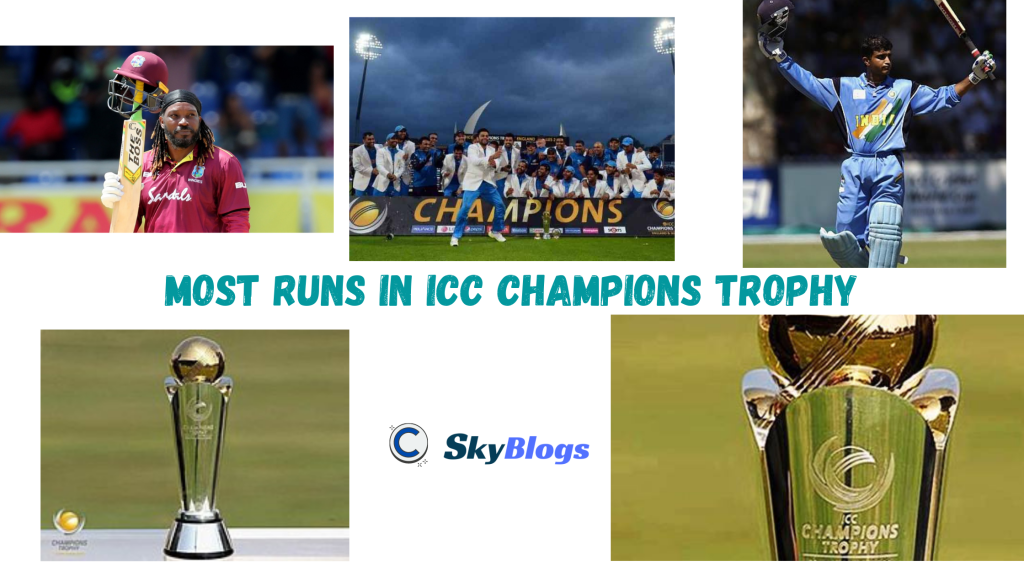 Most runs in ICC Champions Trophy
