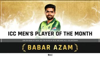 ICC Player of The Month of april 2021 babar azam