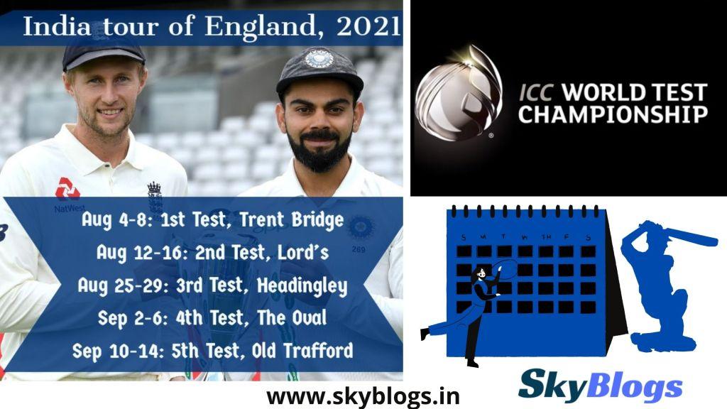 England Tour & World Test Championship