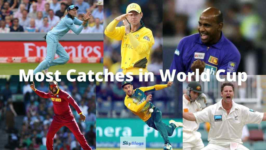 Most Catches in World Cup By a Non-Wicket-Keeper