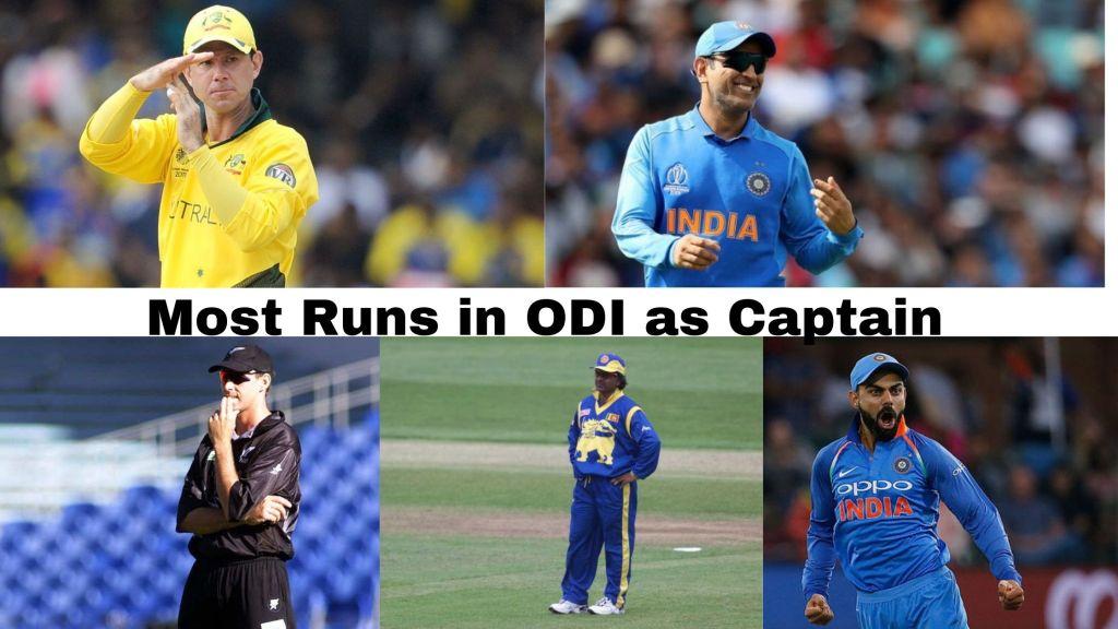 Most Runs In ODI As Captain