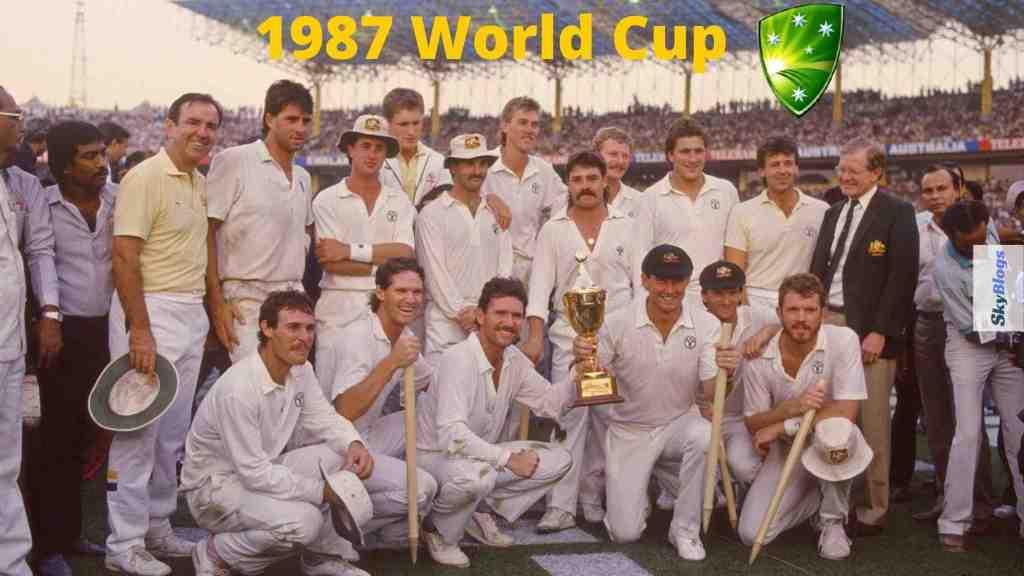 ICC cricket world cup 1987 winner was Australia