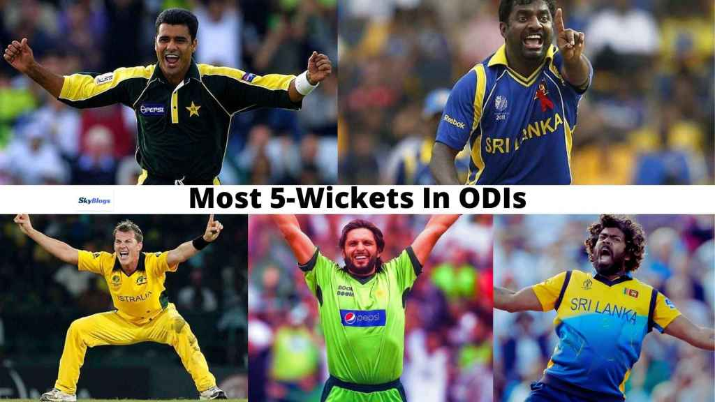Top Five Bowlers With Most 5 Wickets In ODI