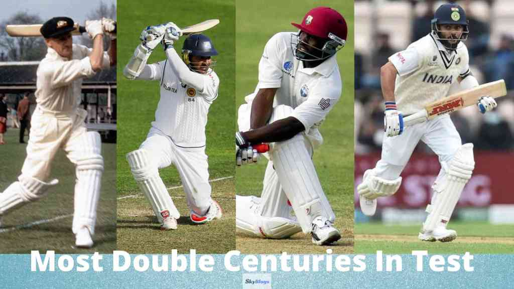Most Double Centuries In Test