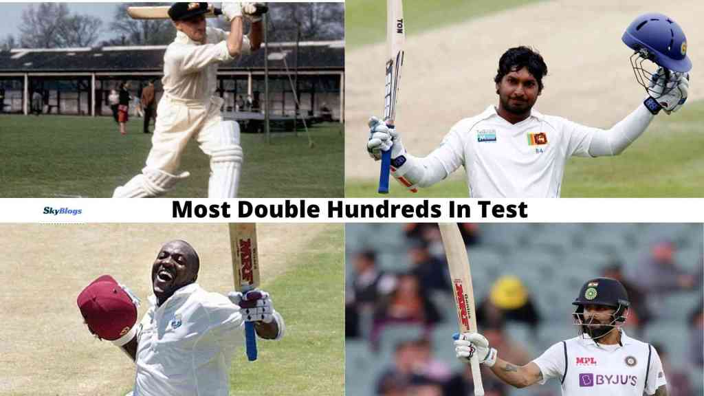 Most Double Hundreds In Test by a cricket player