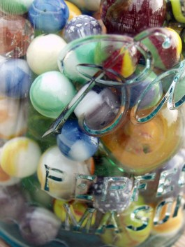 Perfect Mason Jar of Marbles