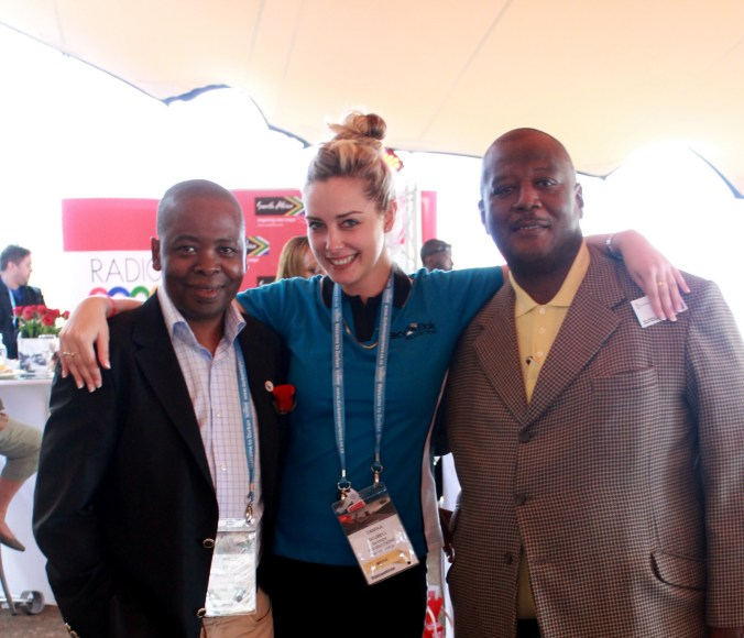 With Head of Durban Tourism Phillip Sithole (on the left)