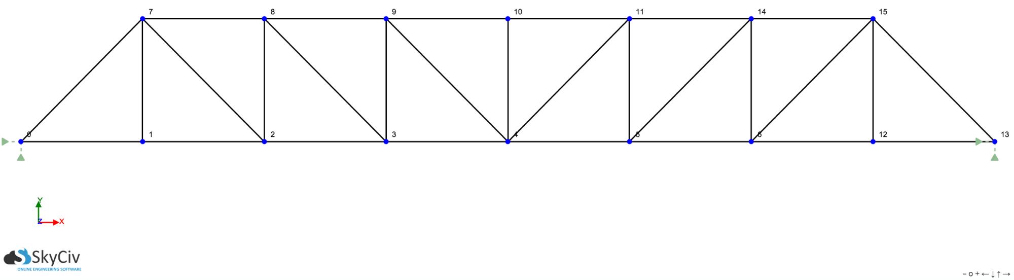 hight resolution of pratt truss