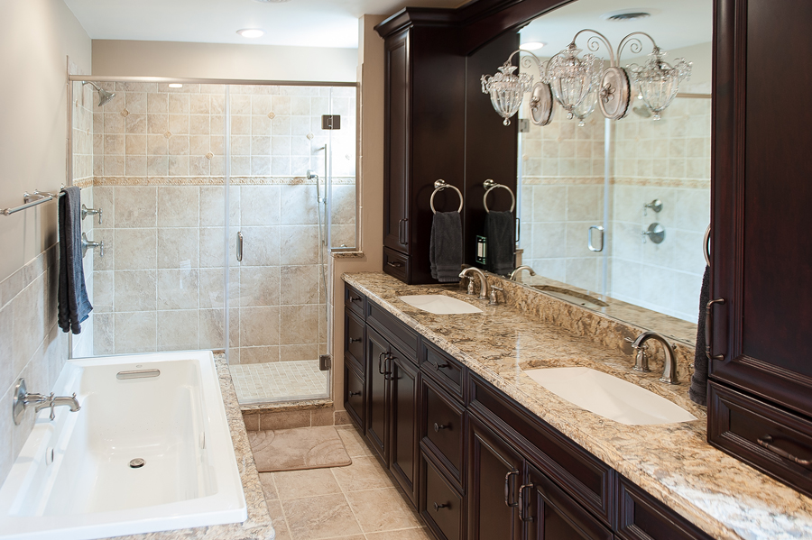 Three Bathroom Remodels in a Basking Ridge Home  Skydell Contracting Inc