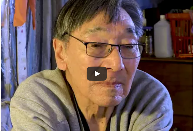 Inupiat Elder Delano Barr talks about climate change in Shismaref, Alaska, 2019