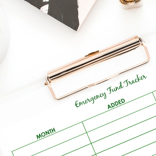 Free Printable Emergency Fund Tracker