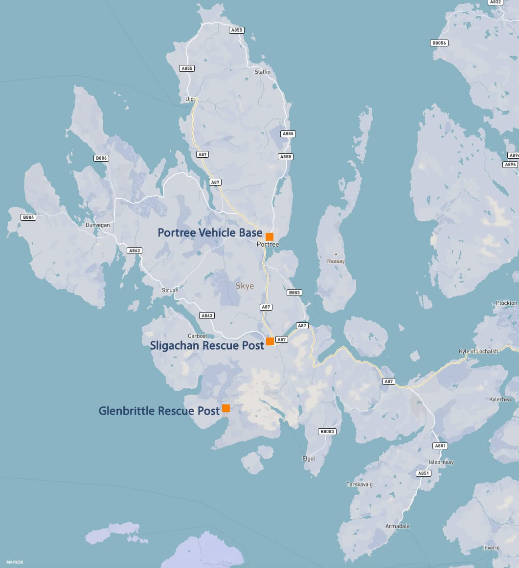 skye mountain rescue base locations