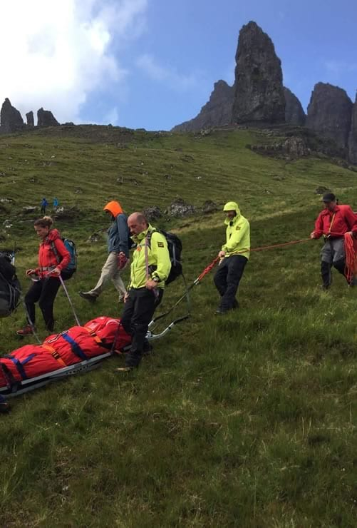 Mountain rescue at The Storr, Isle of Skye