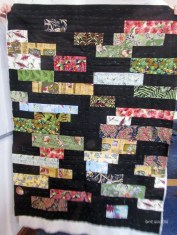 Back of Anne's New Zealand fabrics quilt.