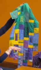Irene Curren's wall hanging featuring her own dyed fabrics.