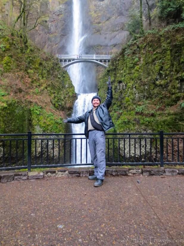 Selfie at Multnomah Falls