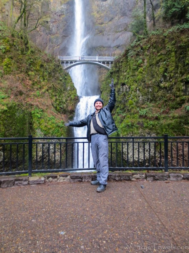 Selfie at Multnomah Falls