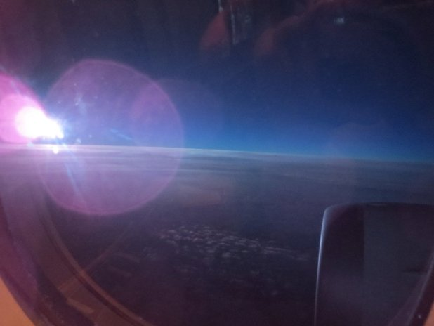 Sunrise at 41,000 feet