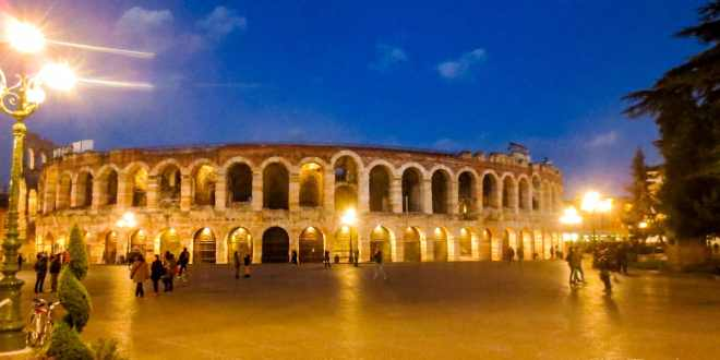 Piazza Bra at Night, Verona