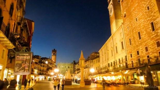 Piazza della Erbe at Night