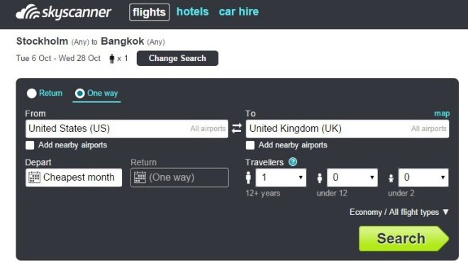 Skyscanner Sample