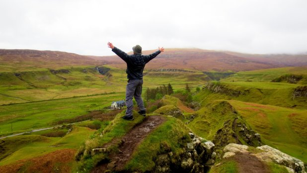Standing on Castle Ewen in the Fairy Glen
